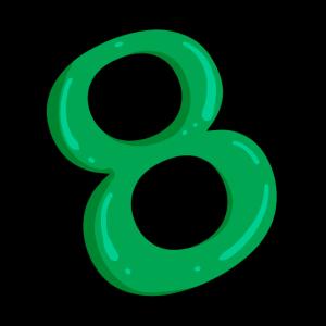 Ziffer 8 Grün