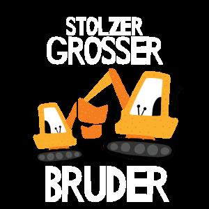 Stolzer großer Bruder Geburt des Brüderchens