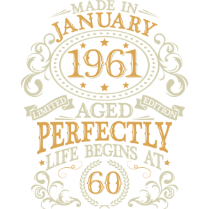 Januar 1961 geboren Geburtstag 60 Jahre Geschenk