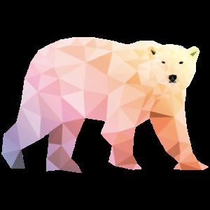 eisbär polygon bunt polar bär