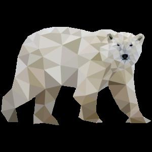 eisbär polygon polarbär