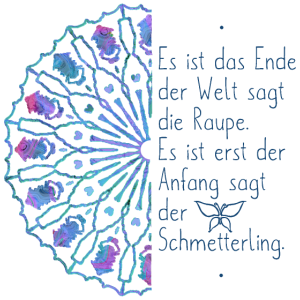 Mandala blau Bewusstsein Hoffnung Schmetterling