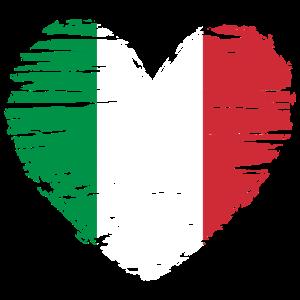 Italien Herz Flagge Fahne Wappen