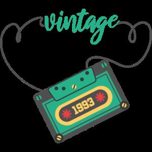 Vintage 1993 Geburtstag Retro Kassette Geschenk