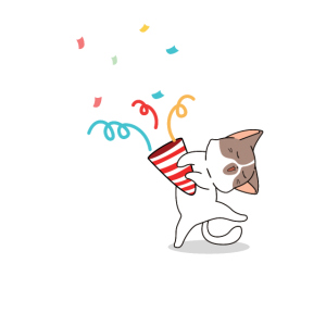 Funny Cat Pawty Animal Birthday Party Gift