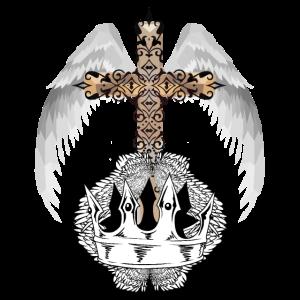 Engelsflügel Kreuz himmlisch Religion Gott