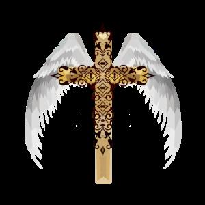Engelsflügel Kreuz himmlisch Jesus Gott