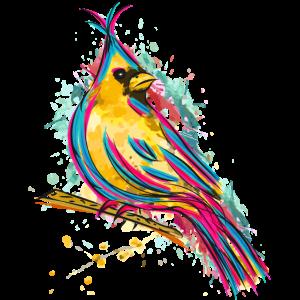 Bunter Vogel - Zeichnung Aquarell - Schöner Vogel