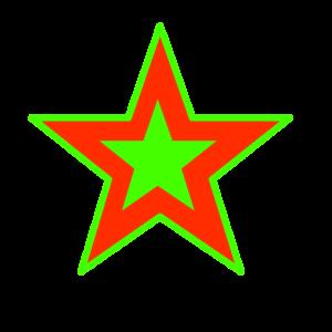 Stern in rot und grün