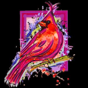 Bunter Vogel - Aquarell Zeichnung - Schöner Vogel