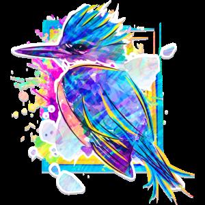 Eisvogel - Schöner Vogel - Zeichnung Aquarell