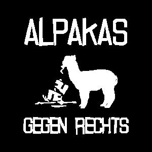Lamas gegen Rechts Alpaka Anti Rassismus Demo