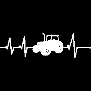 Traktor Herzschlag Landwirt Trecker Schlepper EKG