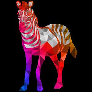 zebra tier polygon bunt
