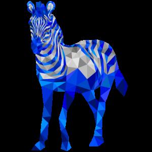 zebra polygon illustration