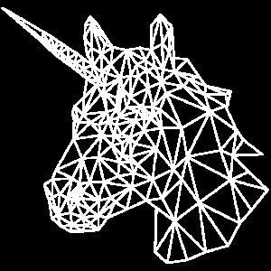 einhorn polygon linien geometrisch