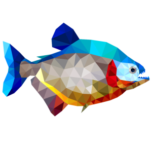 piranha fisch polygon