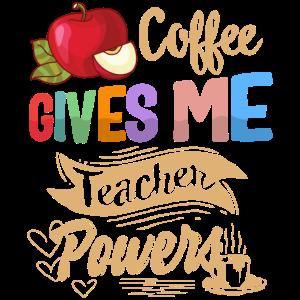 Kaffee gibt mir Lehrer Powers Shirt virtuell
