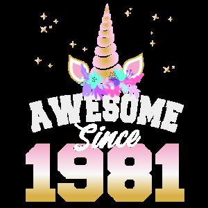 40. Geburtstag Männer 40 Jahre Awesome Since 1981