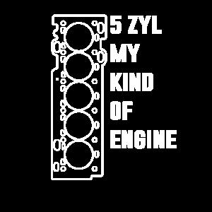5 Zylinder Motor mit Turbo 5 Zylinder Fahrer