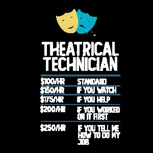 Theater Techniker Drama Bühne lustig Geschenk