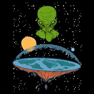 Flache Erde Alien Verschwörungstheorie