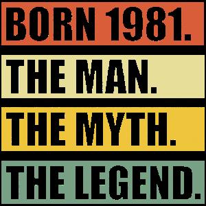 40 Jahre Geburtstag Geboren 1981 Geschenk