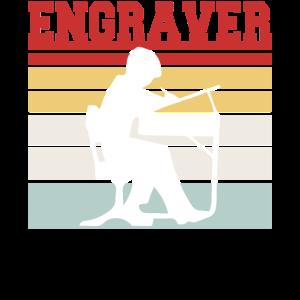 Retro Engraver T Shirt