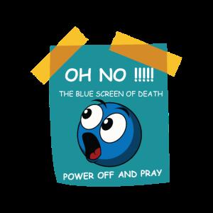 Blue Screen Pray Gamer oder Programmer Geschenk