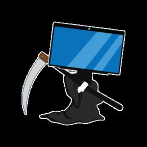 Blue Screen Tod Computer Gamer Geschenk