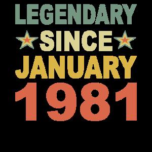 Legendär Januar 1981 Jahr Geburtstag Geschenk