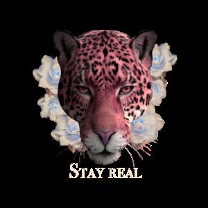 Stay Real Raubkatze Vintage Stil