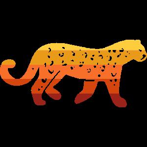 Gepard Leopard Regenbogenfarben Raubkatze