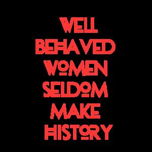 Mädchen, feministisches Hemd: Gut erzogene Frau