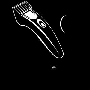 Schere, Kammrasierer und Duft für den Friseursalon