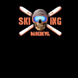 Skiing daredevil