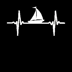 Herzschlag Segeln Segelboot Segler Segelschiff