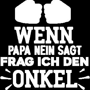 Papa Nein Onkel Nichte Neffe Familie Patenonkel