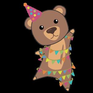 Geburtstagsbär Bär Bärchen Girlande Geburtstag