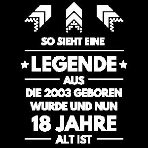 18 Jahre 18. Geburtstag Legende Geschenk