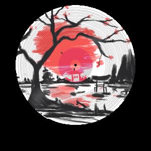 Japan Sonne Kirschbaum am See LP Design