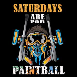 Spieler Samstage sind für Paintball Paintballing
