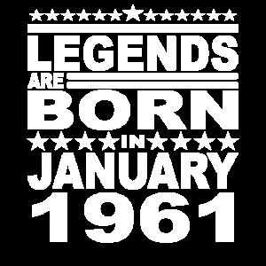 Legendär seit Januar 1961 Jahr 1961 Geburtstag