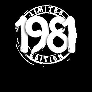 Limited Edition 1981 Geburtstag 40 Jahre