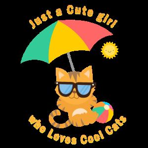 Nur ein Mädchen, das coole Katzen liebt
