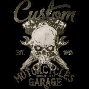 custom motorcycles garage