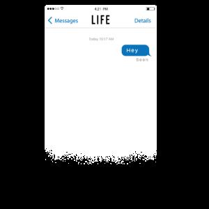 Lustiger Chat-Verlauf Leben ignoriert Sarkasmus