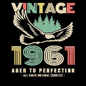 Vintage 1961 Geburtstag Retro Jahrgang Geschenk