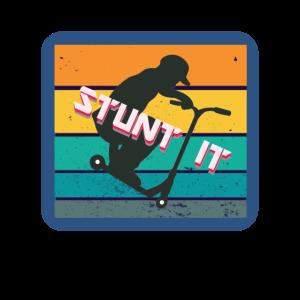 Stunt Boy Tretroller Skater Scooter Tricks Jump
