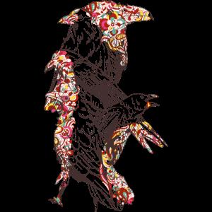 Crows/ Krähen/ Bunte Vögel/ Kunst des Vögelns